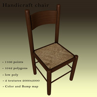 3D handicraft chair