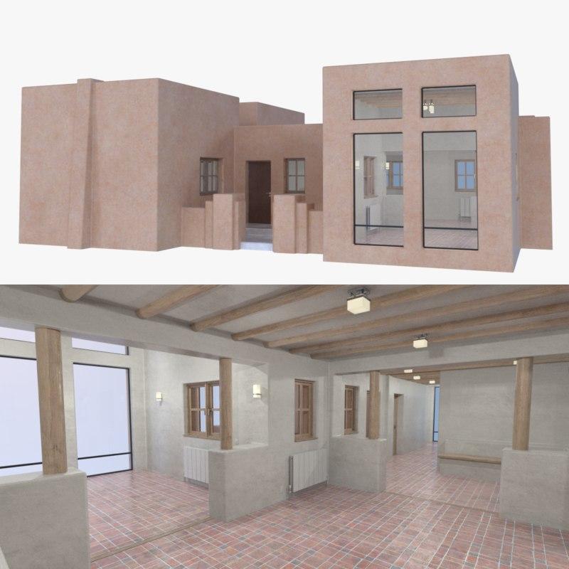 3D model adobe interior