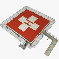 hospital helipad 3D model