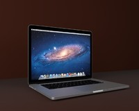 apple macbook retina 3D model