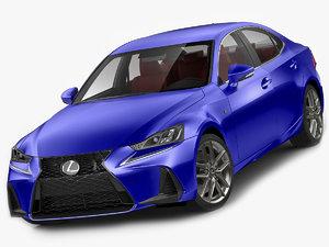 3D lexus f-sport f model