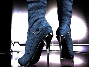 3D female shoes