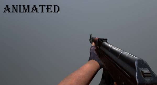 ak47 weapon animation 3D