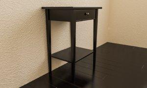 3D bedside table bed model