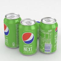 3D beverage pepsi 330ml