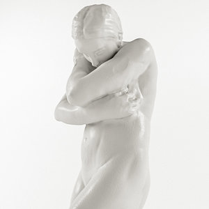 3D model auguste rodin - kiss