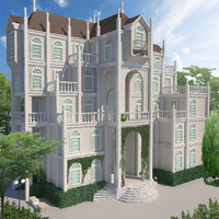 building mansion house 3D