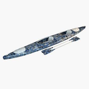 3D boat canoe camouflag