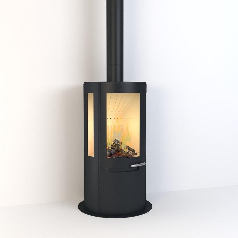 3D contemporary stove model
