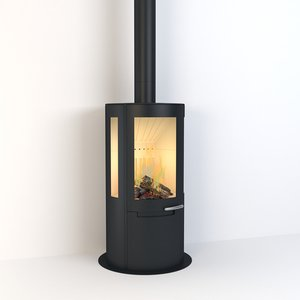 3D contemporary stove model
