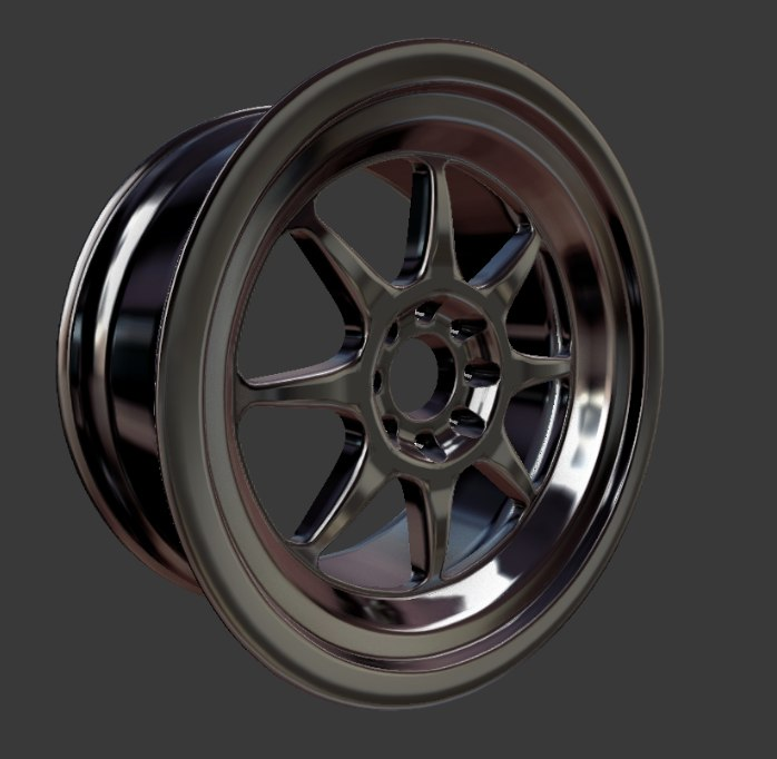 3D model ma86 rims