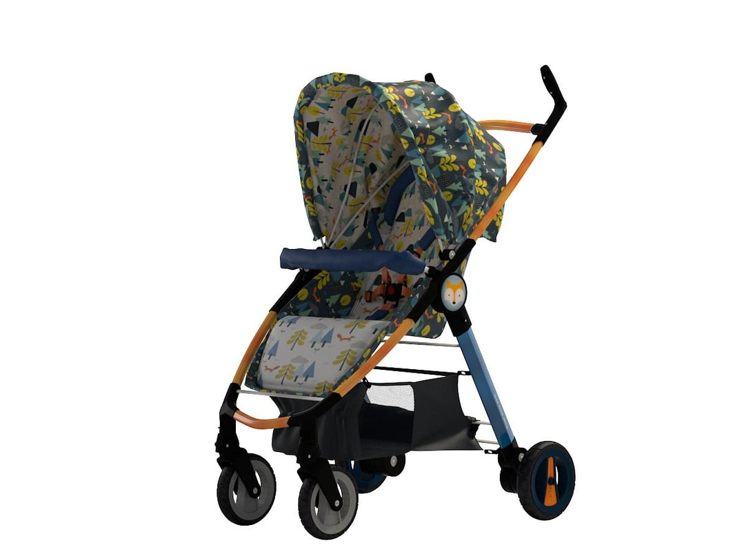 baby carriage cosatto fly 3D