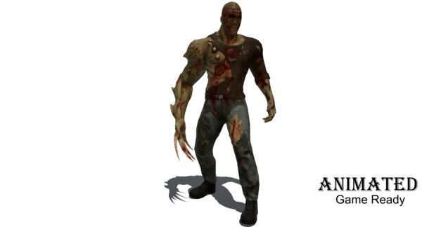 3D zombie ready character games