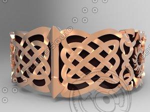 ring celtic ornament 3D model
