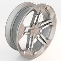 3D wheel v1 0001 model