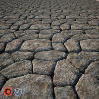 stone walkway 3D model