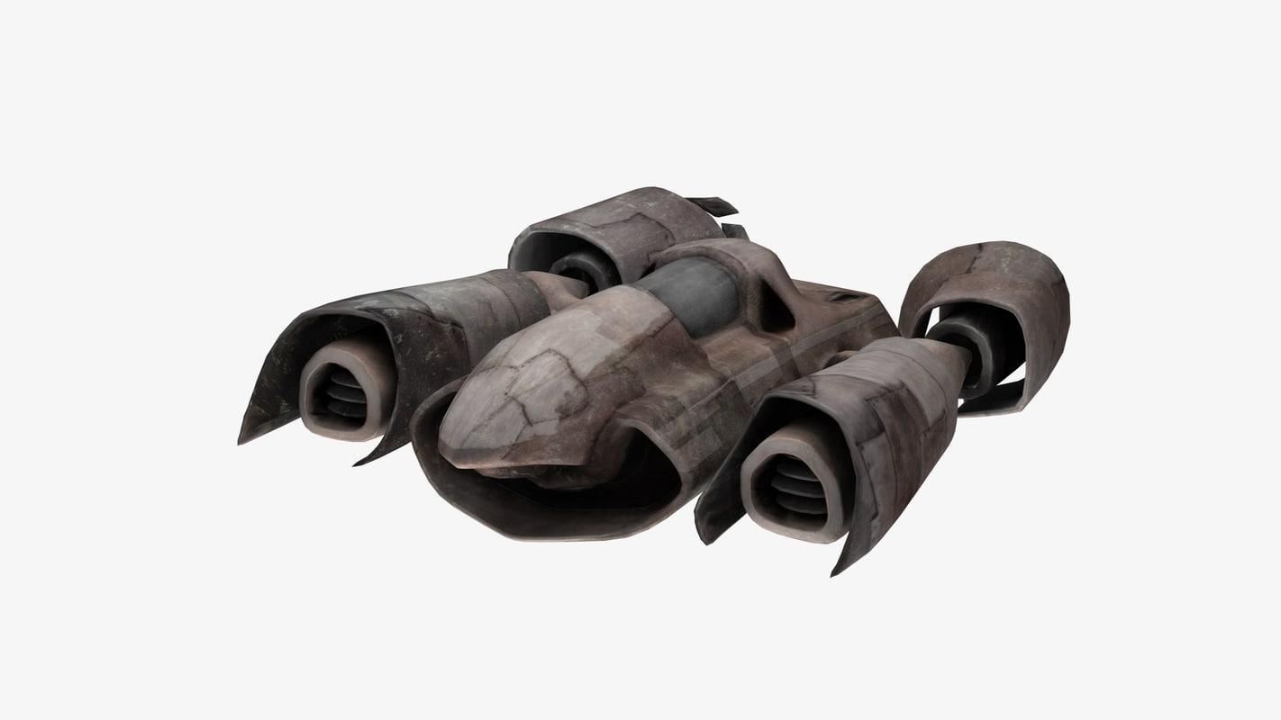 spaceship - speeder 3D