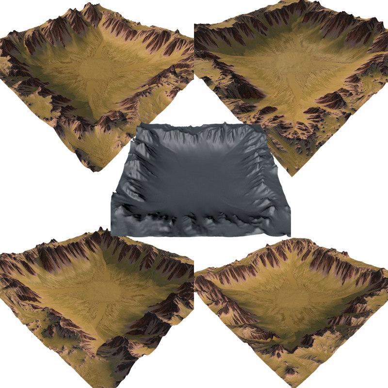 desert terrain model