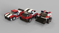 lego car pack 3D model
