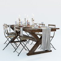 3D festive table setting ikea model