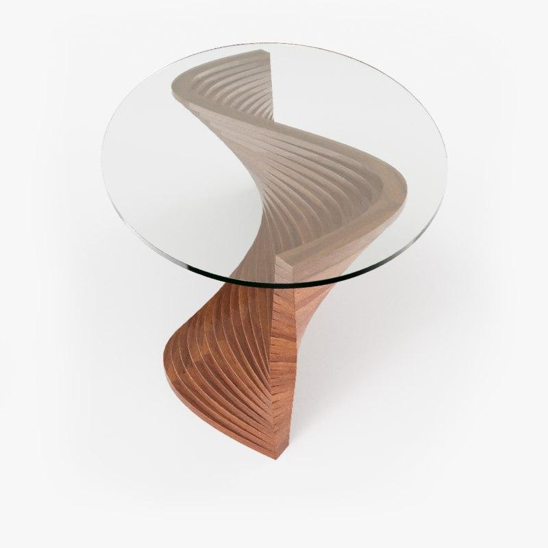3D sidewinder coffee table