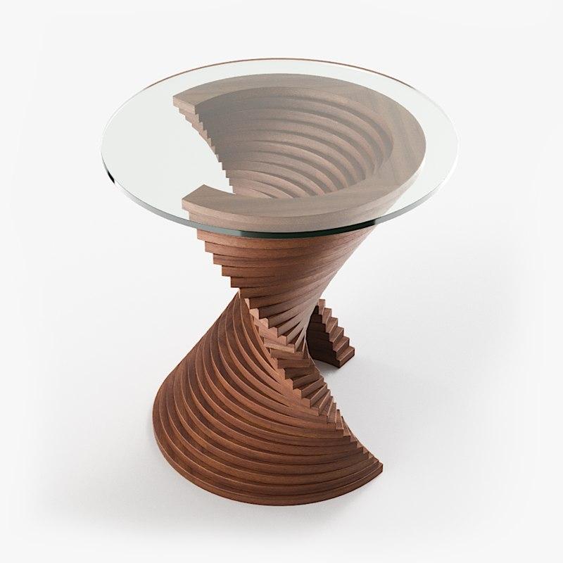 aquaviva table wood 3D model