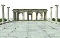greek architecture 3D model