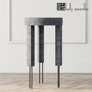 melange table kelly wearstler 3D model