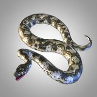 rigged snake 3D model