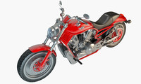 3D model harley davidson v-rod