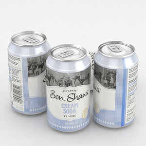3D beverage ben shawn cream model