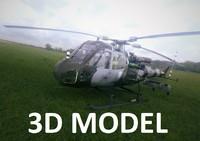 westland helicopter 3D model
