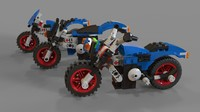 3D lego pack motorcycle