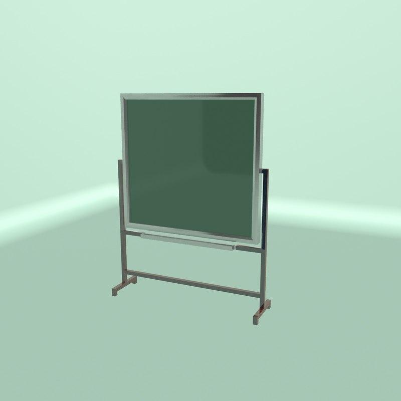 blackboard 3D model