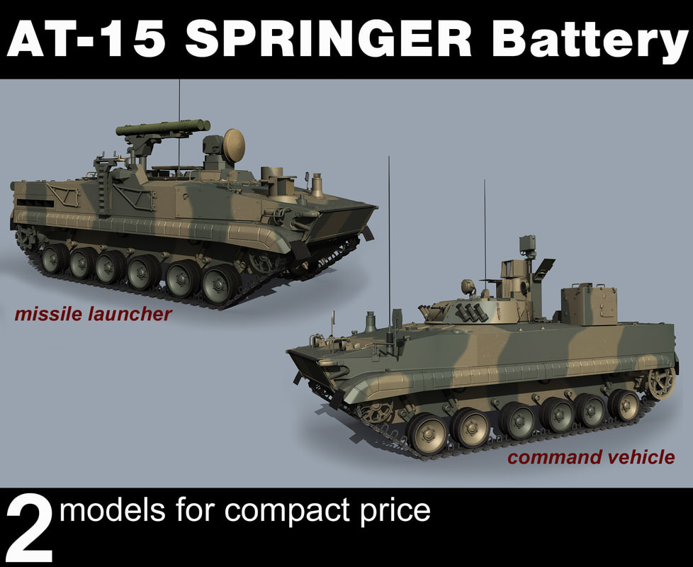3D at-15 springer tanks model