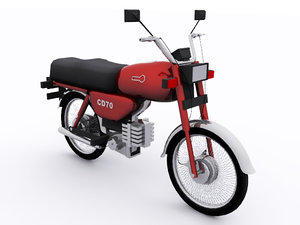 3D cd 70 motorbike