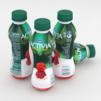 Dairy Bottle Danone Activia Strawberry Pomegranate 300g