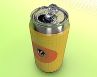 Can with bullet hole