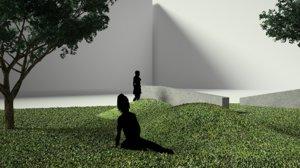 grass concrete model