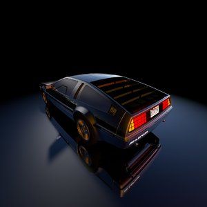 3D future delorean model