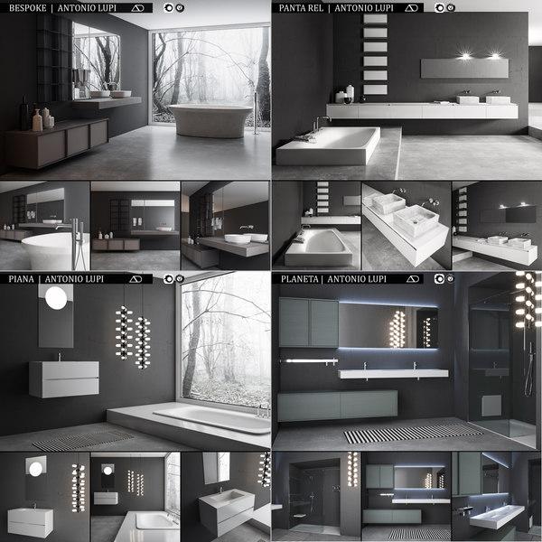 3D bathroom furniture antonio lupi