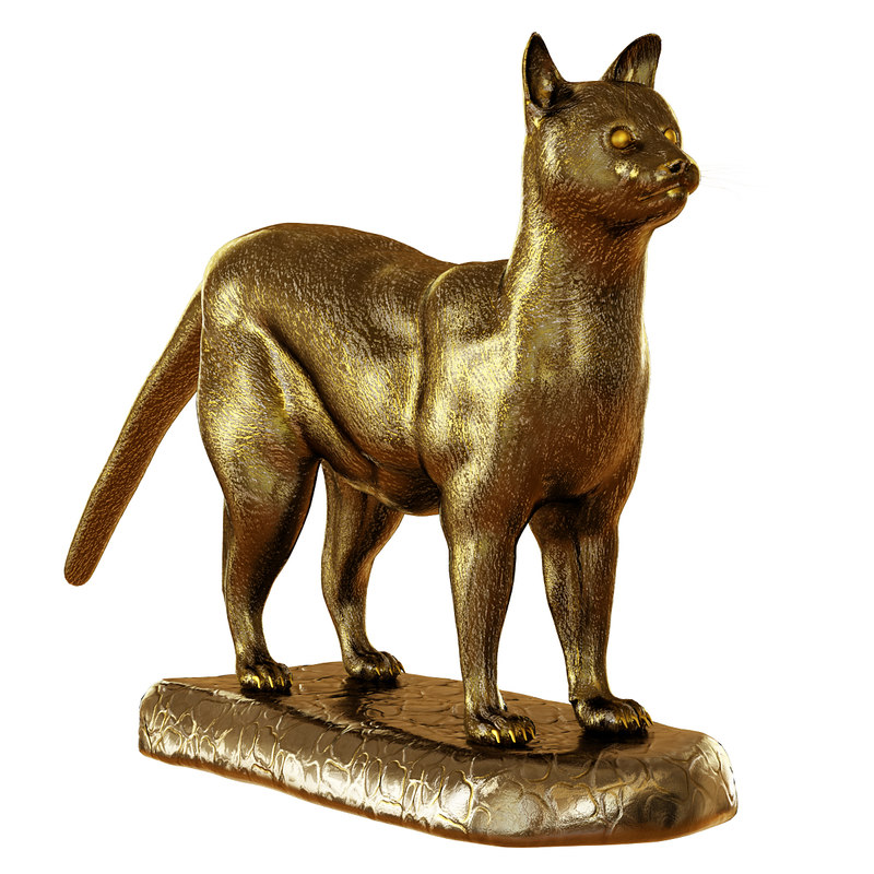 figurine cat 3D model