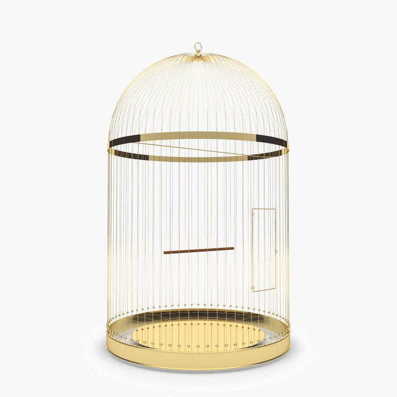 golden bird cage model