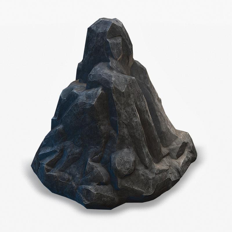 3D model black rock