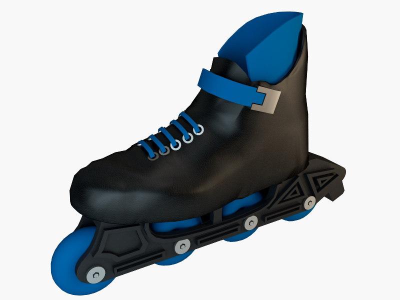 roller skate shoe 3D model