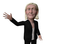 3D caricature marine le pen model