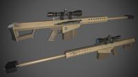 barrett m82 rifle 3D