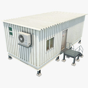 real container 3D model