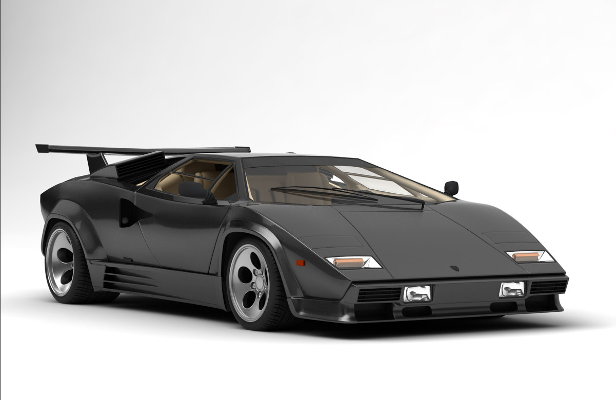 lamborghini countach antique 3d model turbosquid 1150433. Black Bedroom Furniture Sets. Home Design Ideas