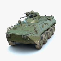 low-poly btr-80a 3D